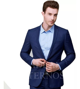 Terno Masculino Oxford Slim C/ 2 Botões Corte Italiano