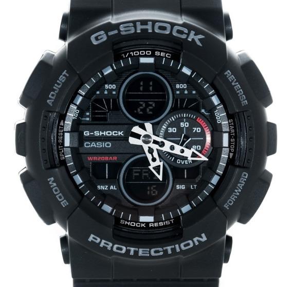 Relógio G Shock Ga140 Preto Lançamento Ga 140 Original Garan