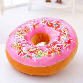 Cojin Suave Almohada Dona 3d Donut Sofá Cama Pretty Pink