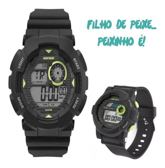 Kit Pai E Filho 2 Relógios Mormaii Mo3415/8c / Mo9081/8c
