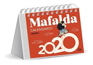 Mafalda 2020 Calendario Escritorio Rojo