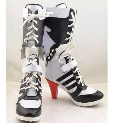 Bota Harley Quinn Arlequina Esquadrao Suicida Puddin Cosplay