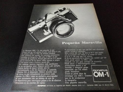 (pb435) Publicidad Clipping Camara Fotografica Olympus Om-1