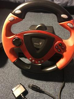 Volante Genius Twinwheel Ff Vibracion Ps2-ps3-pc