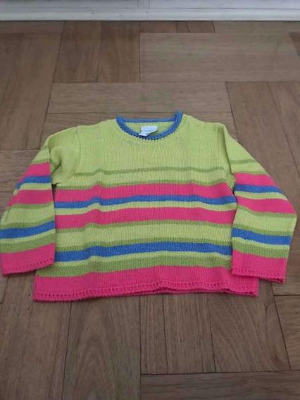 Blusa De Lã Listrada Noruega Tamanho 4