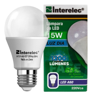 Lampara Led 15w Interelec Larga Vida E27 - Factura A / B