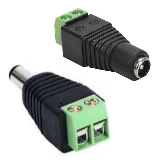 5 Pares De Adaptadores Conector Plug P4 Macho E Outro Fêmea