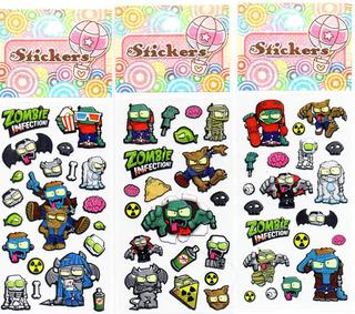 10 Planchas De Stickers Zombies Zombie Infection