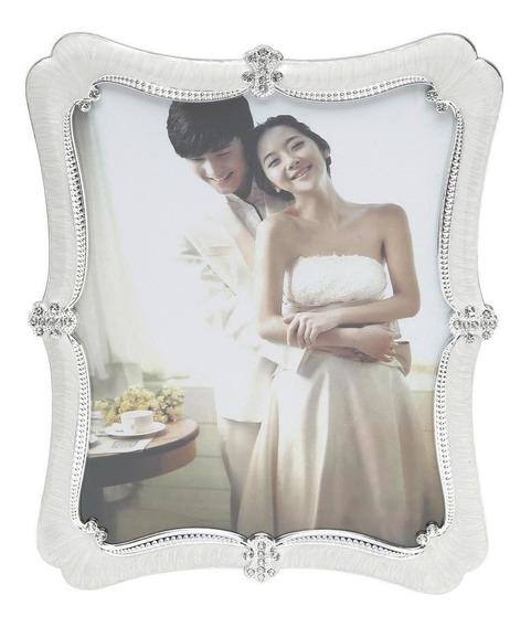 Porta Retrato Perolado 15x20cm Branco Prestige