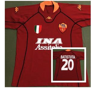 Rara Camisa Roma - Itália 2000 _ Gabriel Batistuta