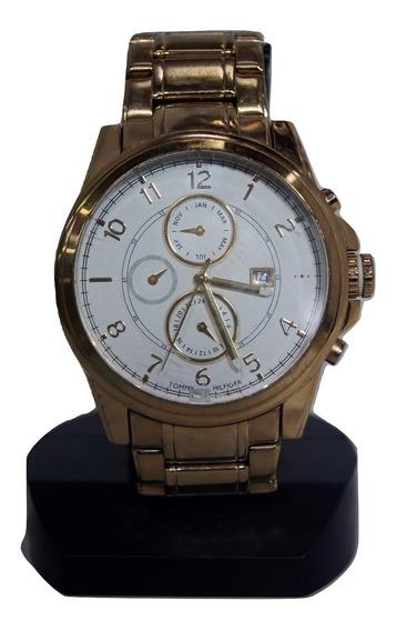 Relógio De Pulso Tommy Hilfiger Dourado