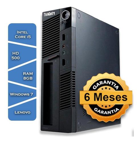 Imagem 1 de 4 de Pc Lenovo M5536 Core I5 Hd500 8gb Ram Windows7 Mouse Teclado