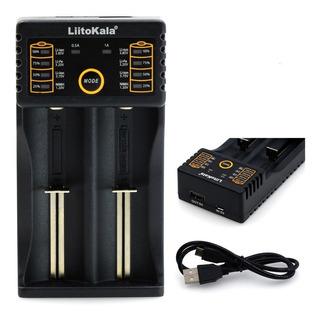 Cargador 18650 Baterias Doble Pilas Aa Aaa 26650 Cr123a Usb