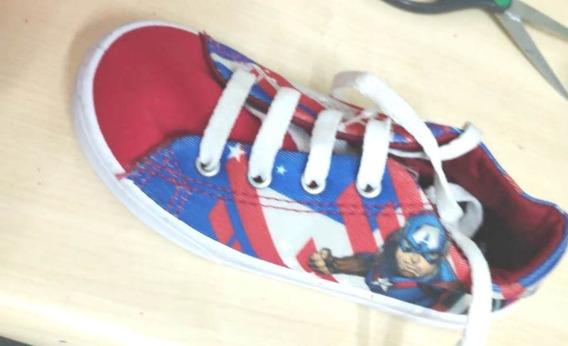 Tenis Infantil Menino Avengers Vermelho Disney 24 45