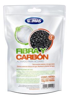 Fibra Y Carbon Activado Para Acuario Lomas Pecera Filtro