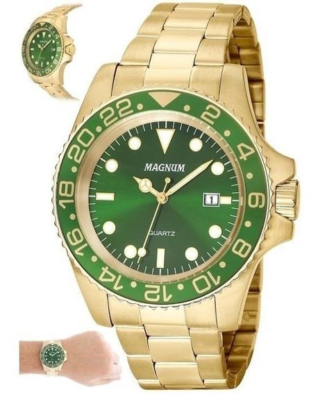 Relógio Magnum Masculino Ref: Ma32934g Casual Dourado