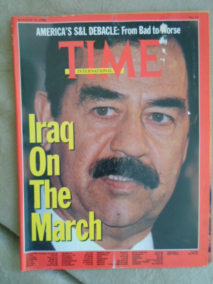 Time International (agosto 1990) Saddam Hussein