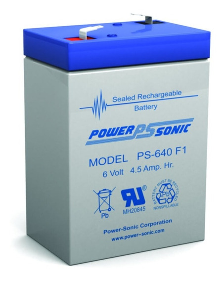 Bateria Power Sonic Ps-640 6 Voltios 4.6 Battery Master