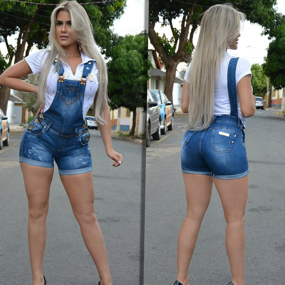 Jardineira Short Rhero Jeans 55552