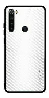 Capa Branca De Vidro Para Redmi Note 8