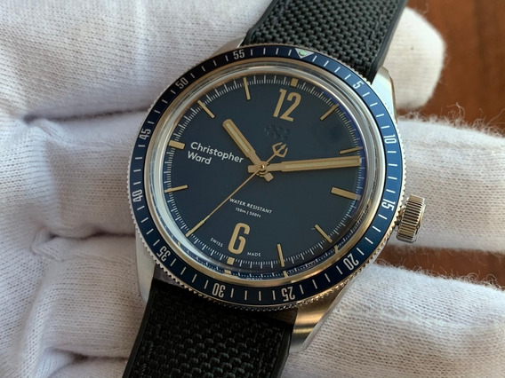 Relógio Christopher Ward C65 Trident Diver Blue Mechanical