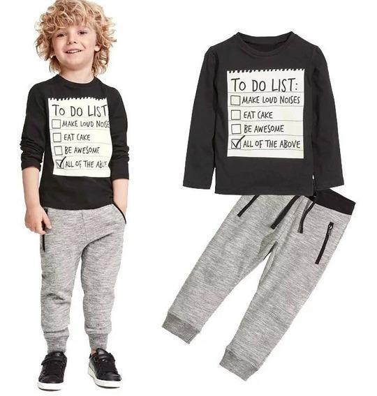 Conjunto Infantil Happy Child Calça Jogger E Camiseta Longa