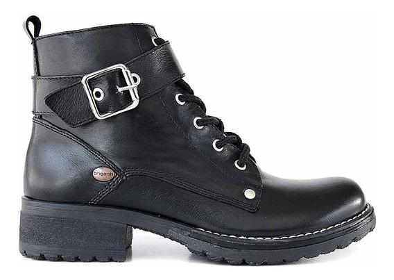 Bota Cuero Mujer Briganti Zapato Borcego Taco Goma Mcbo24941