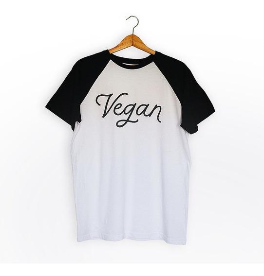 Remera Ranglan Vegan (blanco Y Negro) Unisex