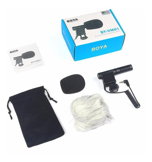 Microfone Direcional Boya By-vm01 Youtuber Cameras E Smartp