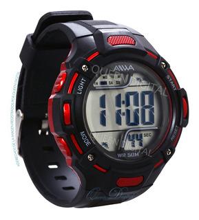 Reloj Sumergible Hombre Deportivo Alarma Crono Luz Aiwa 50mt