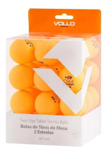 Kit Ping Pong Vollo 36 Bolinhas Tenis De Mesa Bola Laranja