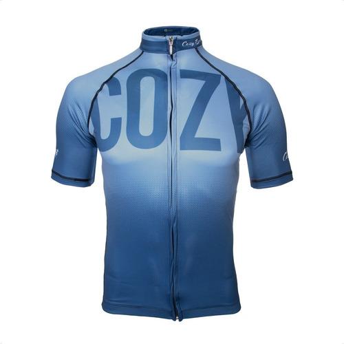 Imagen 1 de 5 de Remera Cozy Sport Modelo Pro C/ Cierre Hombre Ciclismo