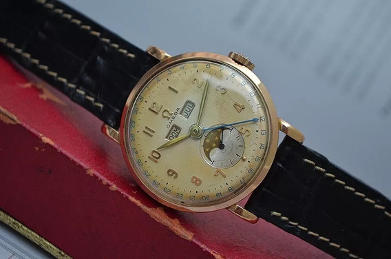 Omega Moonphase Ouro Rosa Cal. 27dl Ref: 2473 40´s Lindo