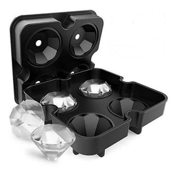 Cubetera De Silicona Diamantes 3d Molde Hielo / Horno
