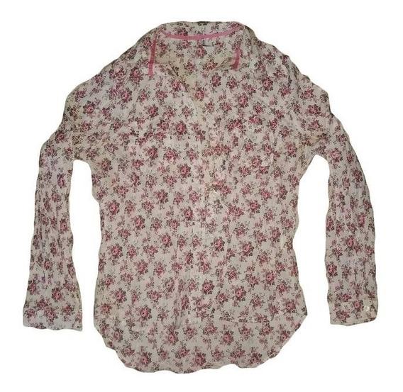 Camisa De Algodón Floreada