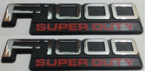 2 Par Dois Emblemas F-1000 Super Duty F1000 Ford + Brinde