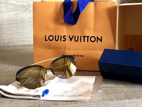 Oculos De Sol Louis Vuitton De Luxo Estilo Cat Eye Completo!