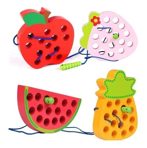 Imagen 1 de 5 de Kit Aprendizaje Juguetes Didácticos Montessori Juego Madera
