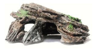 Adorno Roca Con Cueva Para Pecera Acuario De Resina