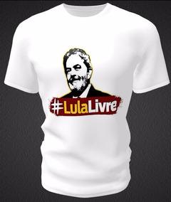 Camiseta Com Estampa Personalizada Lula Livre