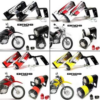 Slider Protetor Moto Honda Bros 150 + Prot. Balança + Brinde