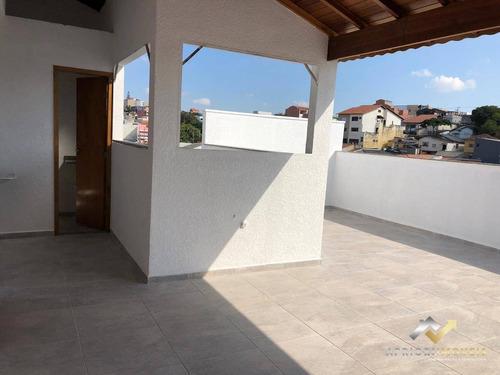 Cobertura Com 2 Dormitórios À Venda, 88 M² Por R$ 341.000 - Parque Oratório - Santo André/sp - Co0537