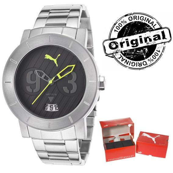 Relógio Masculino Puma Pulseira Aço Pu103571001 Original