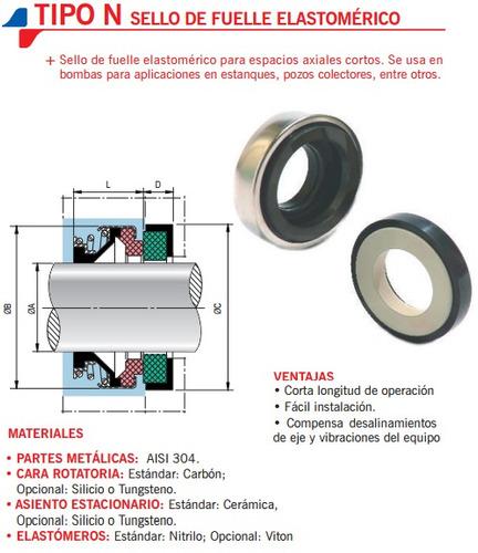 Sello Mecanico Tipo Gallital 16mm