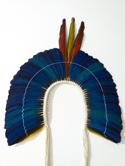 Cocar Penacho Indígena Indio Original Cacique