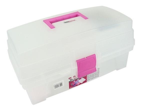 Santul 6402 Caja Vanity Transparente Con Rosa, 14