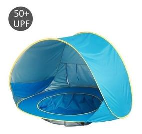 Tenda De Praia Proteção Sol Plástico Infantil Barraca Fps 50