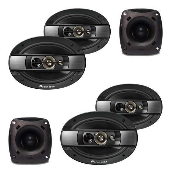 Kit 4 Alto Falantes Pioneer 600w + 2 Super Tweeter Jbl