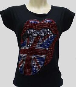 70c8a189c4 Camiseta Rolling Stones Feminina - Camisetas Feminino Manga Curta no ...