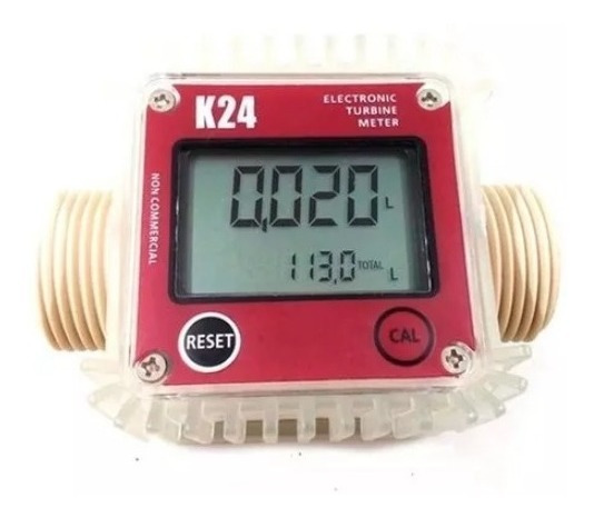 Medidor De Vasão Fluxo Digital K24 Diesel Água Gasolina